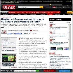 Renault et Orange coopèrent sur la 4G à bord de la voiture du futur