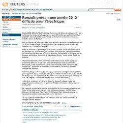 Renault prévoit une année 2012 difficile pour l'électrique