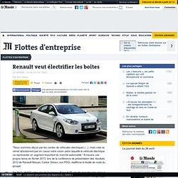 Renault veut électrifier les boîtes