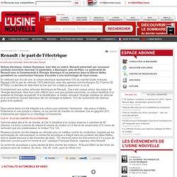 Renault : le pari de l'électrique