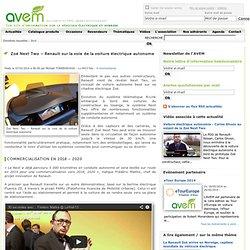 Zoé Next Two – Renault sur la voie de la voiture électrique autonome