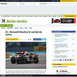 F1 : Renault finalise le rachat de Lotus