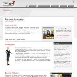 Renault Academy Outil de Formation - Daesign E-learning