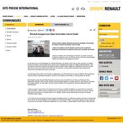 Renault inaugure son Open Innovation Lab en Israël