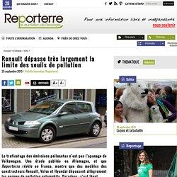 Renault dépasse très largement la limite des seuils de pollution