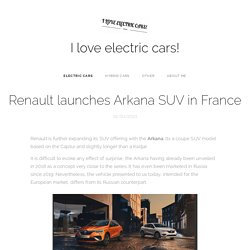 Renault launches Arkana SUV in France
