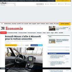 Renault-Nissan s'allie à Microsoft pour la voiture connectée