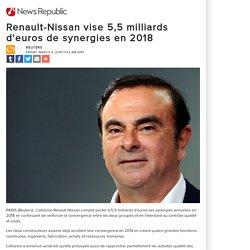 Renault-Nissan vise 5,5 milliards d'euros de synergies en 2018