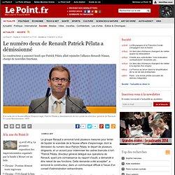 Le numéro deux de Renault Patrick Pélata a démissionné