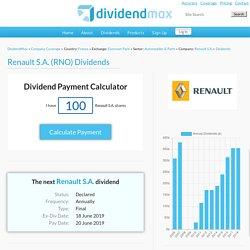 Renault S.A. Dividends