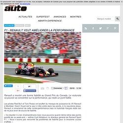 F1 - RENAULT SE SATISFAIT DE LA PERFORMANCE