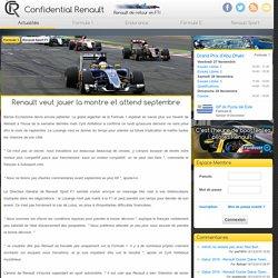 Renault veut jouer la montre et attend septembre