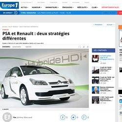 PSA et Renault : deux stratégies différentes