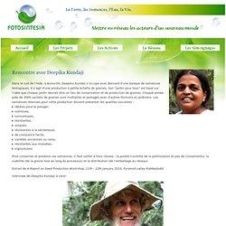 Rencontre avec Deepika Kundaji - Fotosintesia