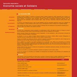 Rencontre Economie Sociale et Solidaire