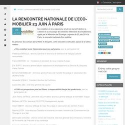 La rencontre nationale de l'Eco-mobilier 23 juin à Paris - Economiecirculaire.org