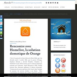 Homelive, la solution domotique de Orange