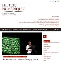 Rencontre avec Jacques Donguy, poète numérique