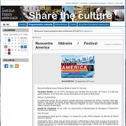 Institut franco-américain (Rennes) - Rencontre littéraire / Festival America