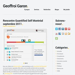 Rencontre Quantified Self Montréal septembre 2011