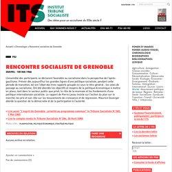 Rencontre socialiste de Grenoble - Institut tribune socialiste