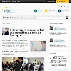 bilan rencontre Fab Lab au collège ...CA