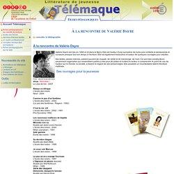 À la rencontre de Valérie Dayre - fiche pedagogique