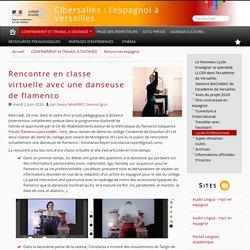 Rencontre en classe virtuelle avec une danseuse de flamenco