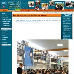 Les 1L rencontrent Guillaume Vissac - Collège et Lycée de l'Iroise