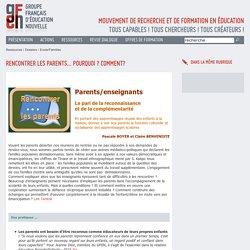 logiques parentales - Jacques Bernardin - Sylvie Chevillard - Sylvie MEYER-DREUX -Véronique Vinas - GFEN28