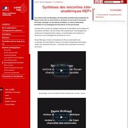 Synthèses des rencontres inter-académiques REP+