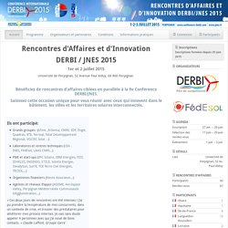 Rencontres d'Affaires et d'Innovation DERBI/JNES 2015