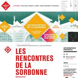 Les Rencontres de la Sorbonne 2020-2021 ⎮ Cycle de conférences