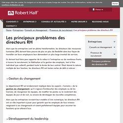 Problèmes rencontrés par les directeurs RH