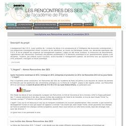 Les rencontres des S.E.S. de l'académie de Paris