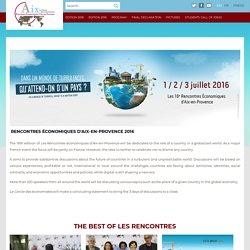 Welcome - Rencontres Économiques d'Aix-en-Provence 2016