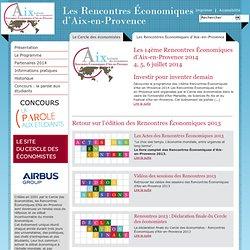 Les Rencontres Économiques d'Aix-en-Provence