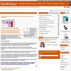 Site de rencontre handicape mental