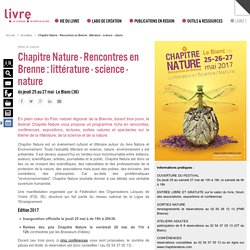 Chapitre Nature - Rencontres en Brenne : littérature - science - nature