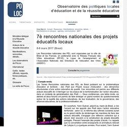 7è rencontres nationales des projets éducatifs locaux — Observatoire de la Réussite Educative