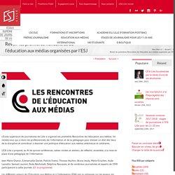 Revoir les premières Rencontres de l'éducation aux médias organisées par l'ESJ Lille - ESJ Lille