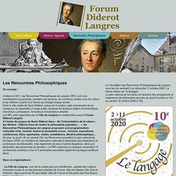 Forum Diderot-Langres Rencontres Philosophiques