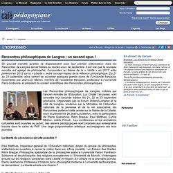 Rencontres philosophiques de Langres : un second opus !