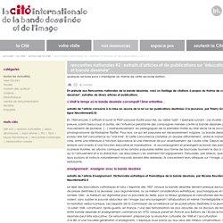 rencontres nationales #2 : extraits d'articles et de publications sur (...)
