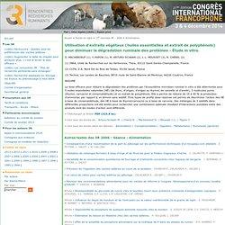 [3R - Rencontres autour des Recherches sur les Ruminants] -