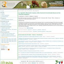 JOURNEES 3R - 2001 - Le ragondin (Myocastor coypus), hôte réservoir de la Grande Douve du foie (Fasciola hepatica).