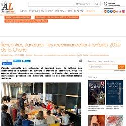 Rencontres, signatures : les recommandations tarifaires 2020 de la Charte