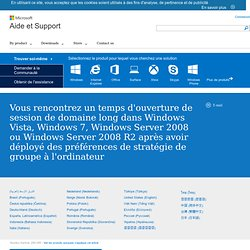 You experience a long domain logon time in Windows Vista, Windows 7, Windows Server 2008 or Windows Server 2008 R2 after you deploy Group Policy preferences to the computer