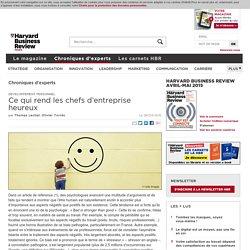 Ce qui rend les chefs d'entreprise heureux