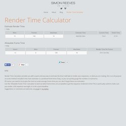 Render Time Calculator